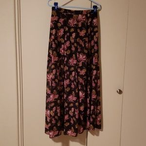 A floral maxi skirt